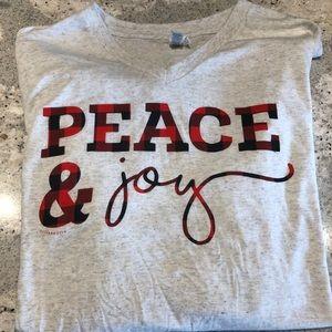 Peace & Joy long sleeve tee.